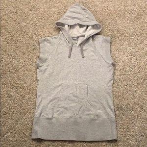 Nike Sleeveless Hooded Sweatshirt Top Gray Small